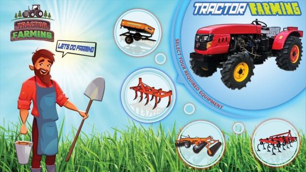 现代拖拉机耕作游戏截图1