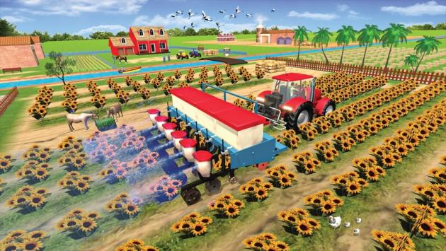 现代拖拉机耕作游戏截图3