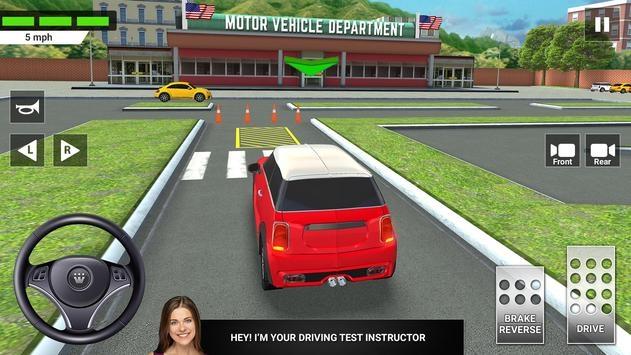 城市汽车驾驶与停车学校考试模拟器截图1