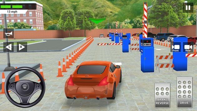 城市汽车驾驶与停车学校考试模拟器截图4