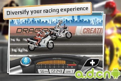 短程高速赛车:摩托车版 Drag Racing: Bike Edition v1.0.63截图1